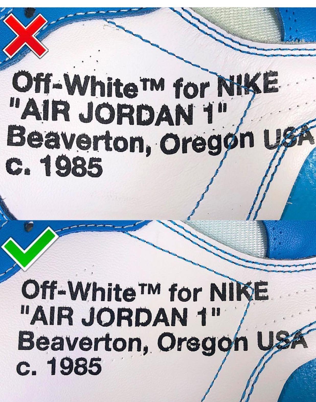 Air Jordan 1 Replica 1:1 và Real
