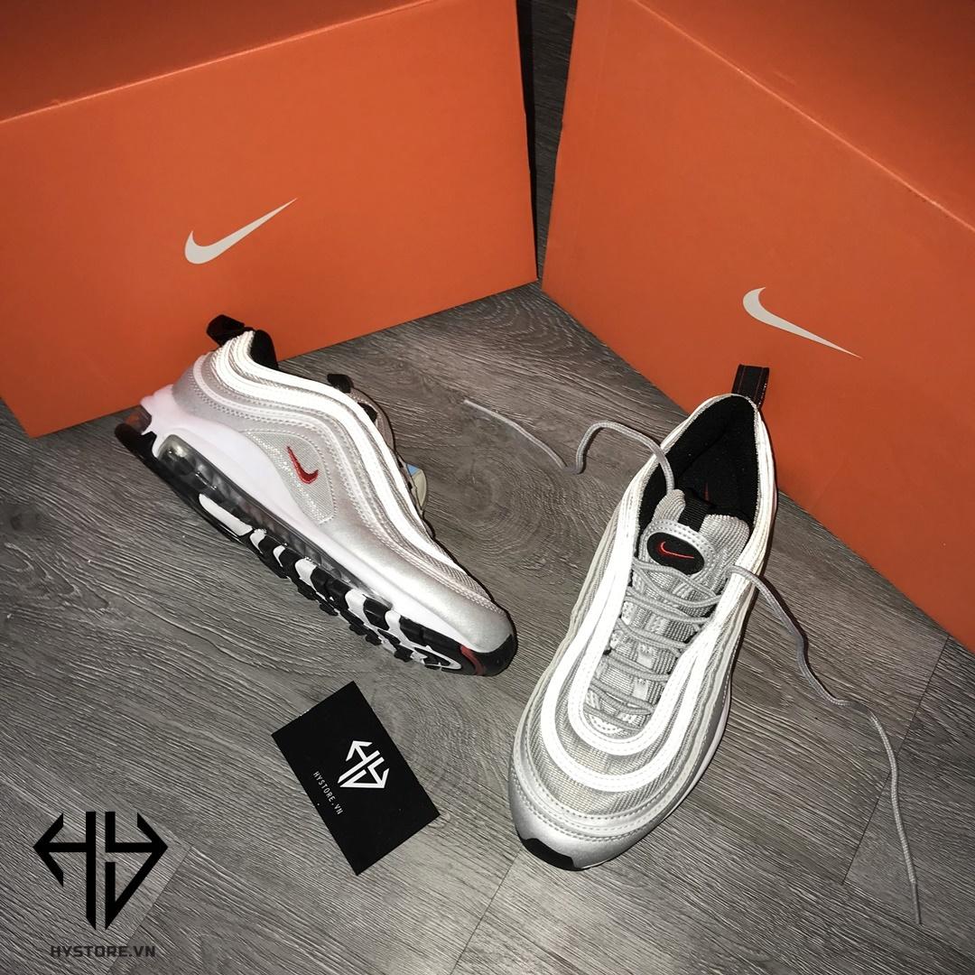 Nike Air Max 97 bạc phản quang