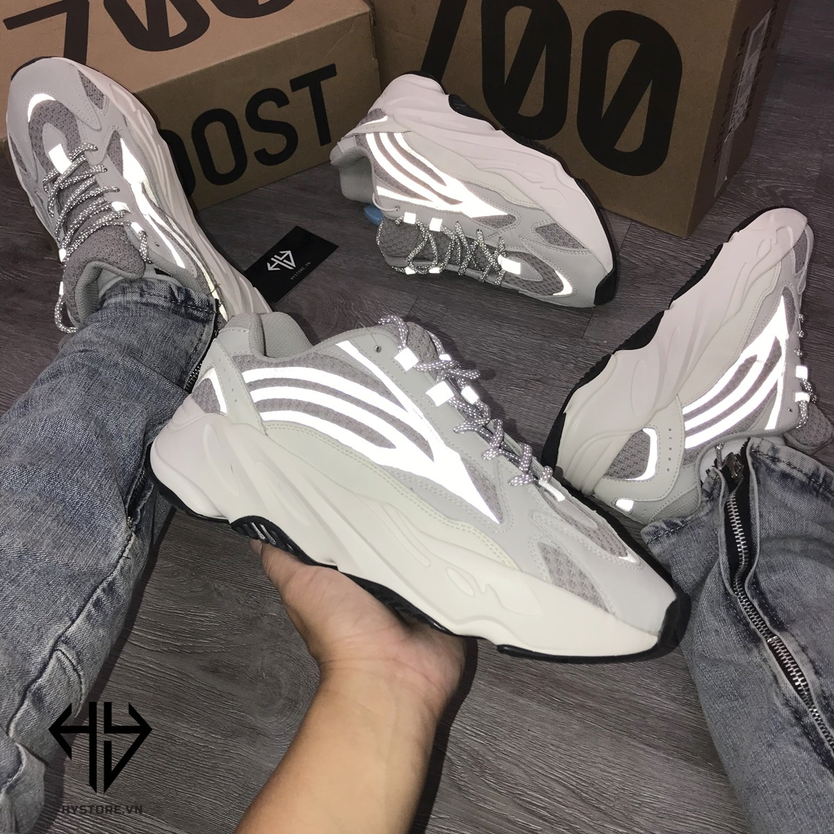 Giày Yeezy 700vs Static Replica 1:1