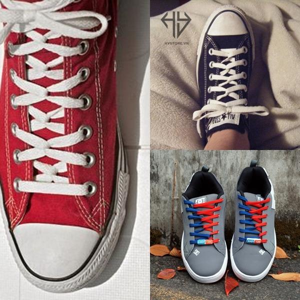 Cách buộc dây giày converse cổ thấp loop back