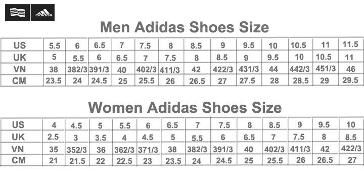 Bảng Quy Đổi Size Giày Adidas