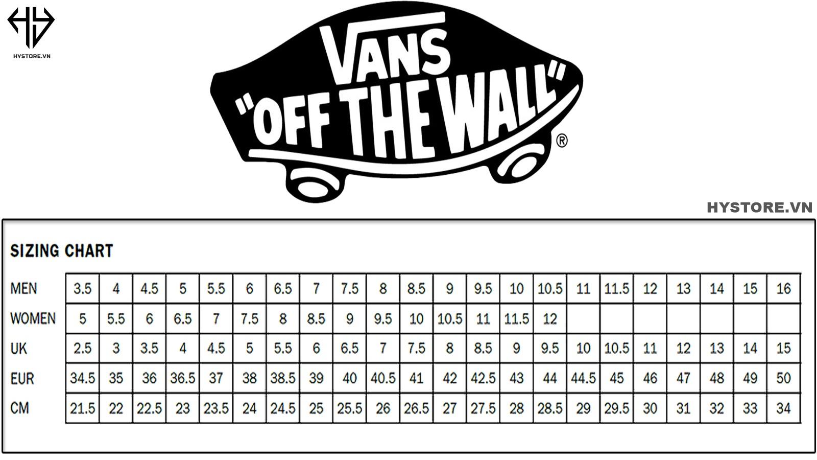 cách chọn size giày vans