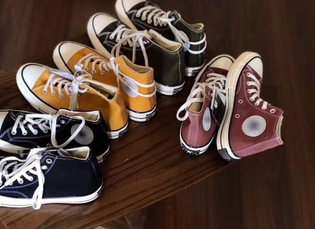 những màu sắc giày converse