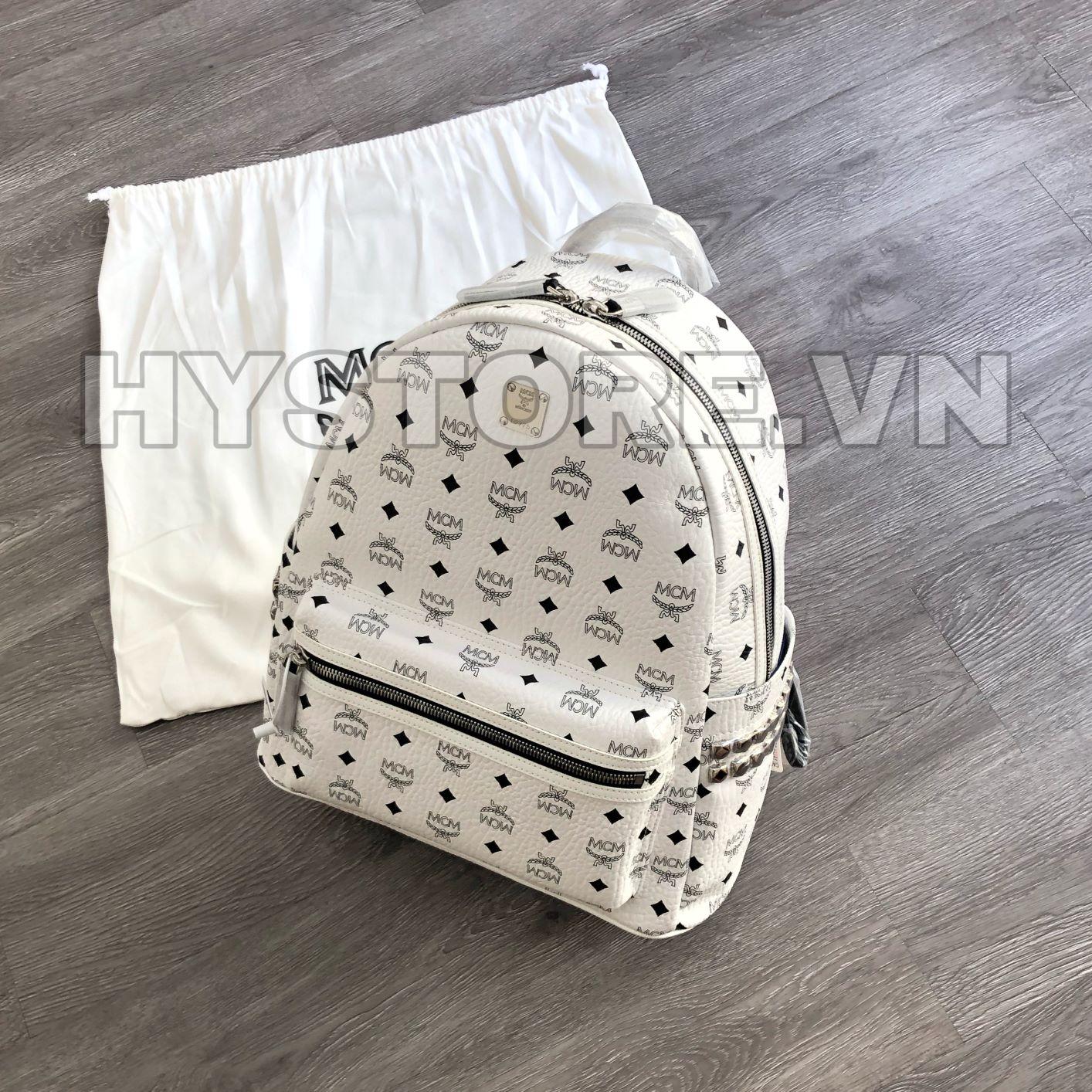 Balo MCM màu trắng
