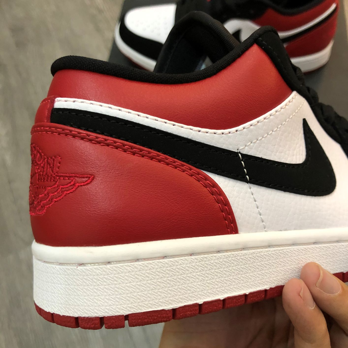 Giày Jordan1 Low Black Toe