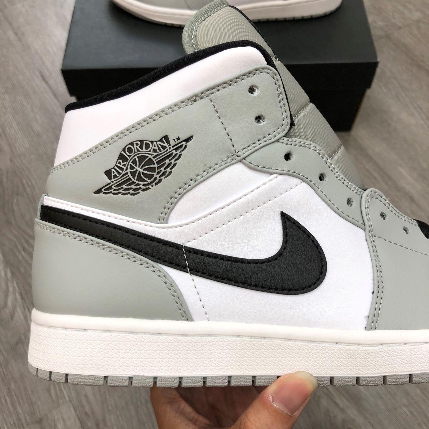 Giày Jordan1 Mid Smoke Grey