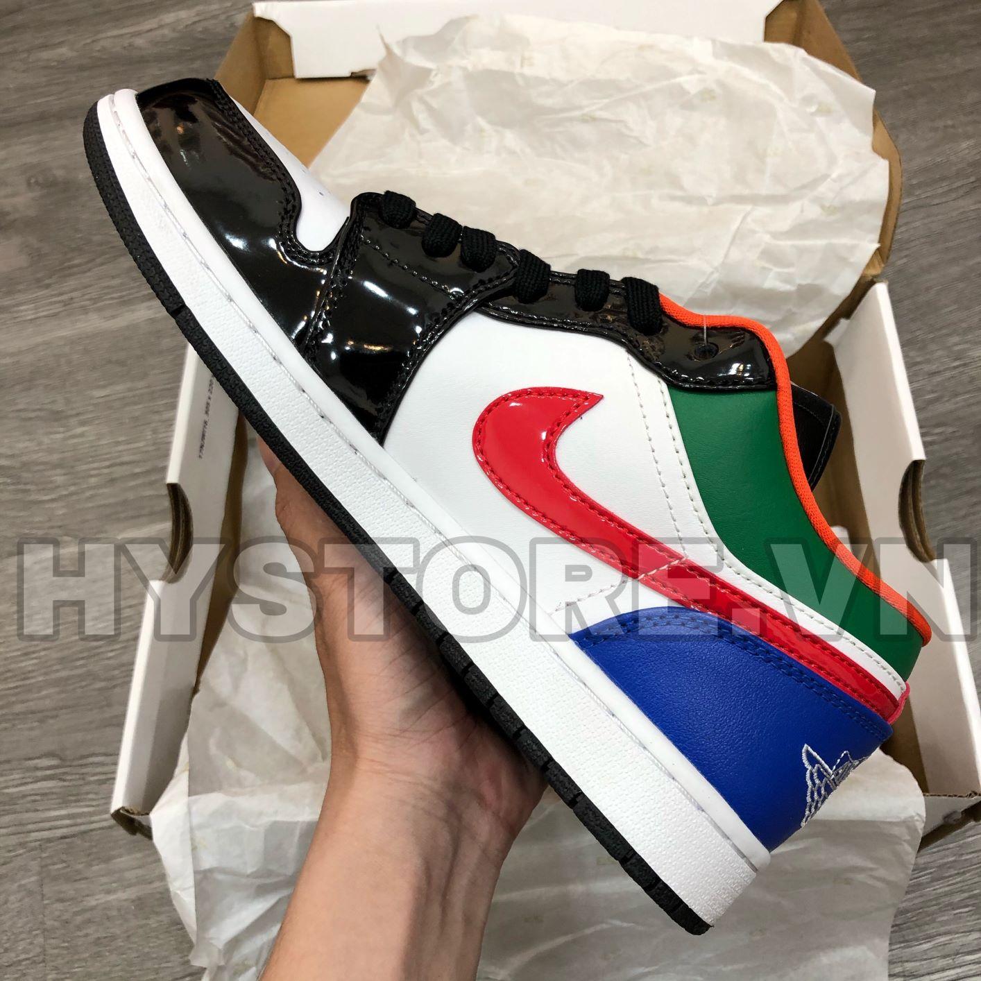 Giày Jordan1 Low Multicolor Blacktoe