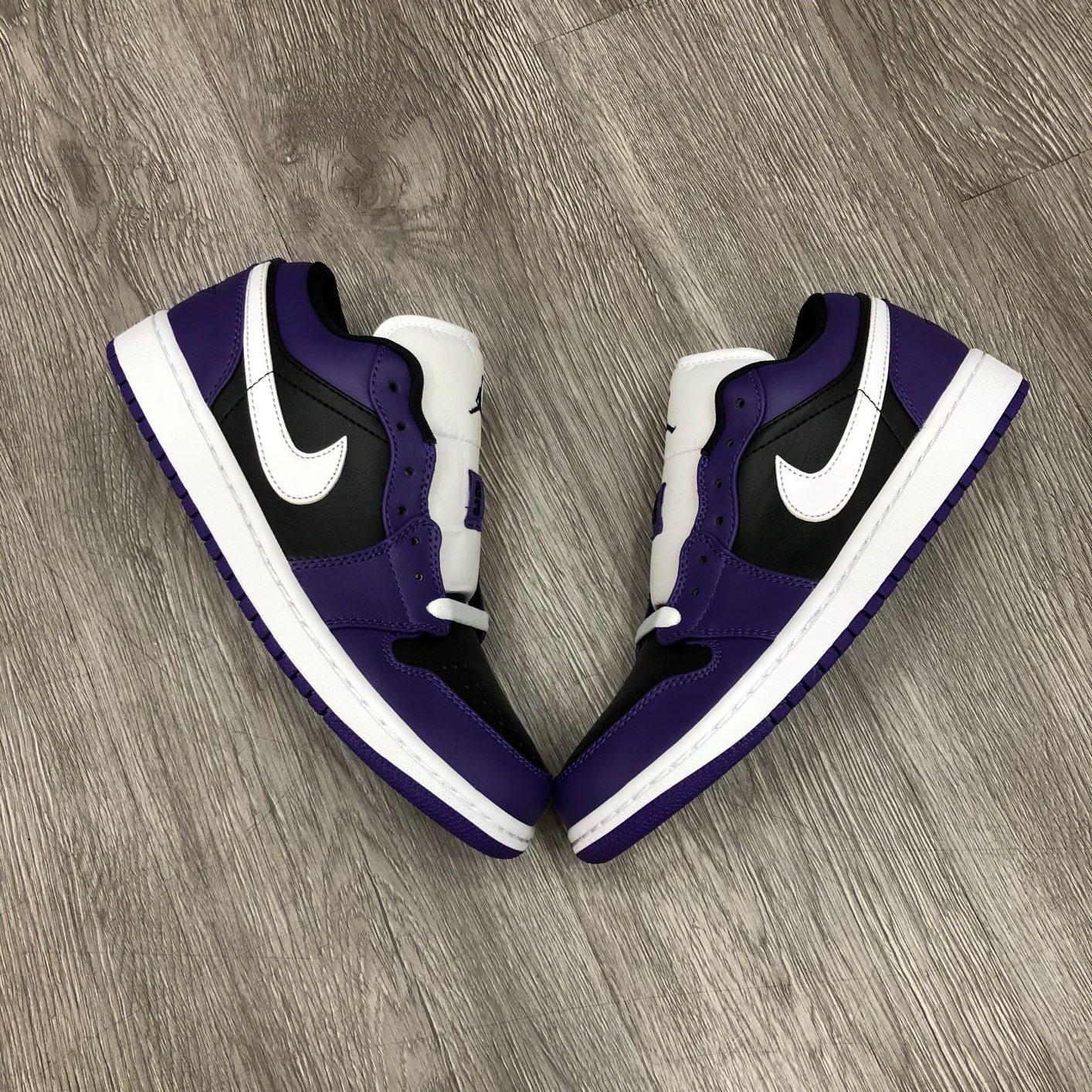 Giày Nike Jordan1 Low Purple Back
