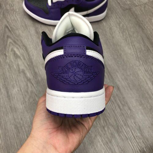 Giày Nike Jordan1 Low Purple black