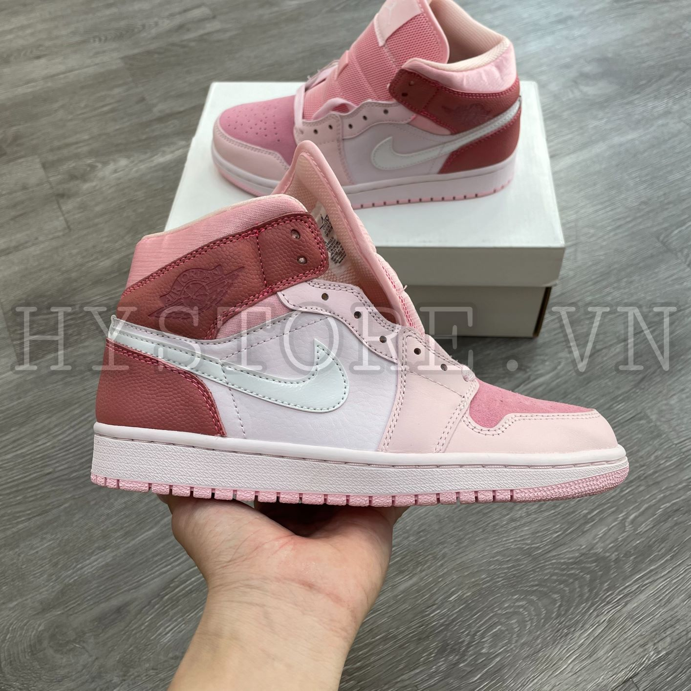 Giày Nike Jordan1 Mid digital pink