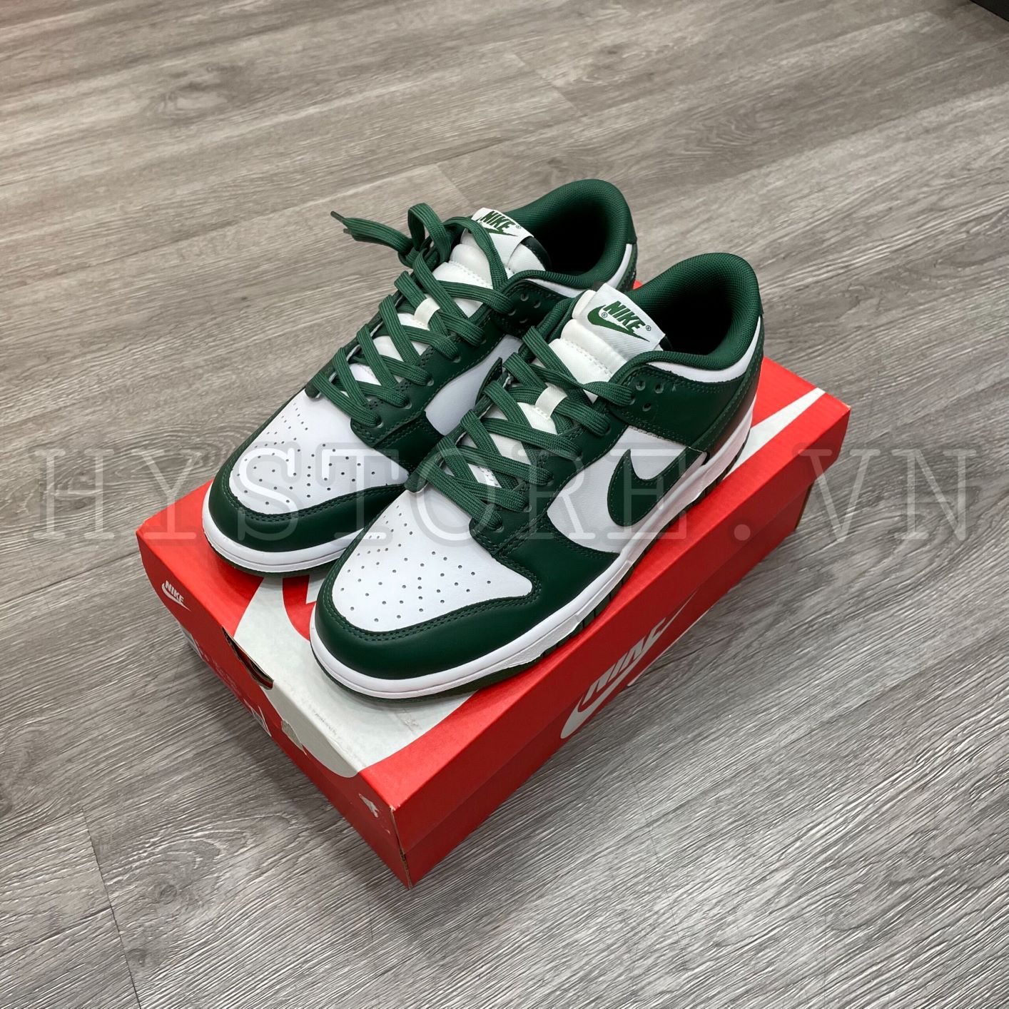 Giày nike dunk low team green