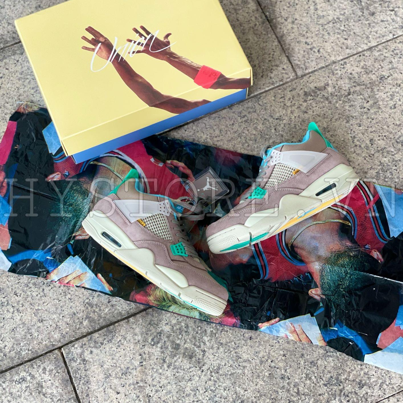 GIày Nike Jordan4 Union Taupe Haze