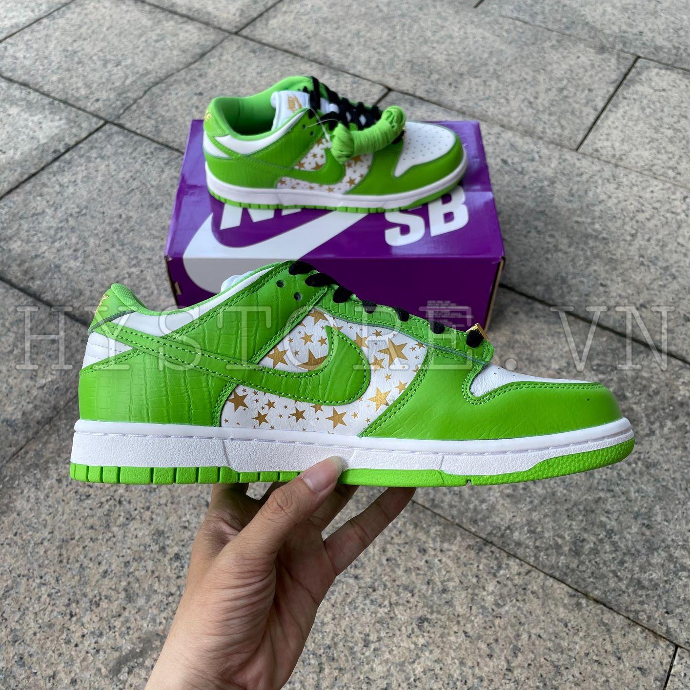 Giày Nike SB Dunk Supreme MeanGreen