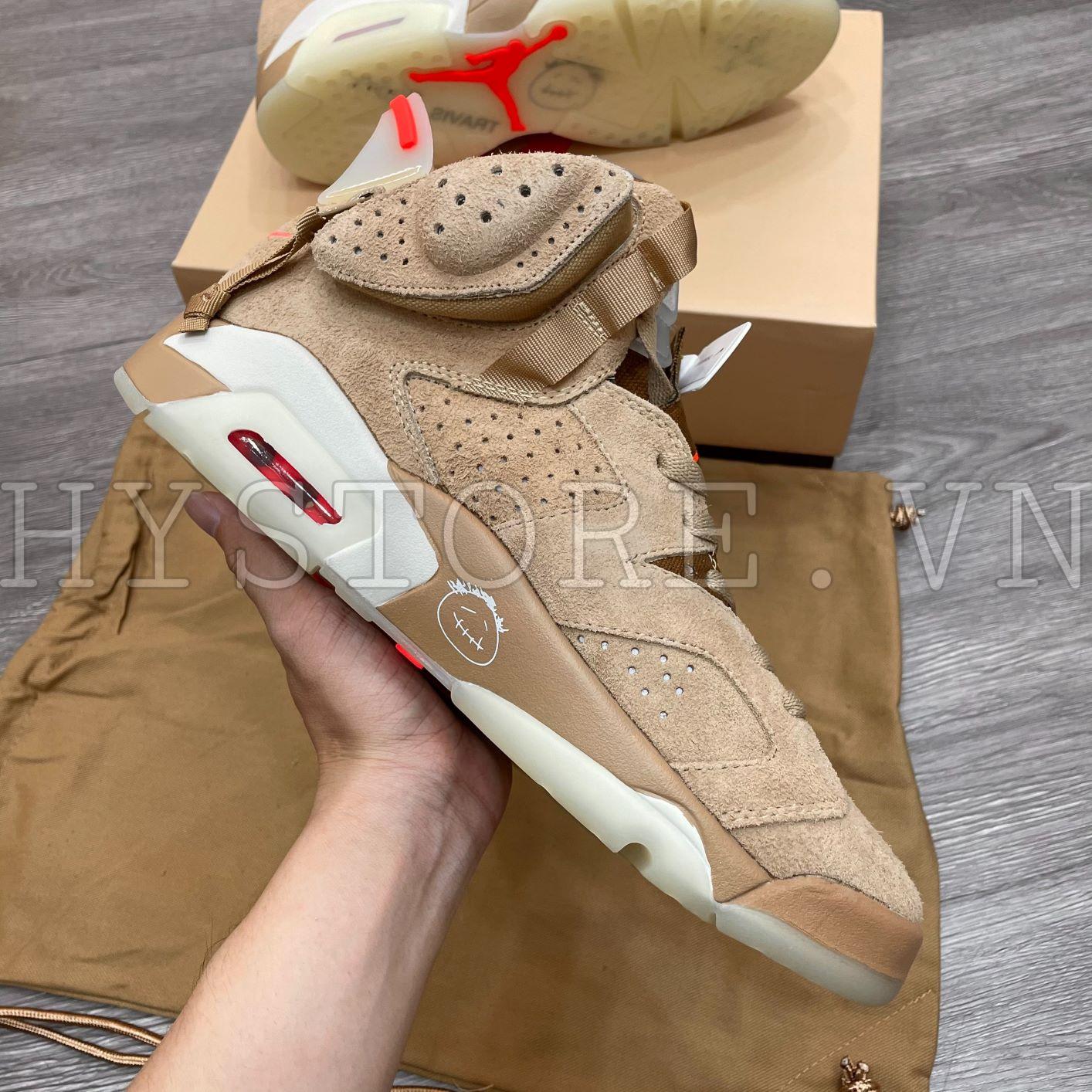 Giày Nike Jordan6 Travis Scott Khaki