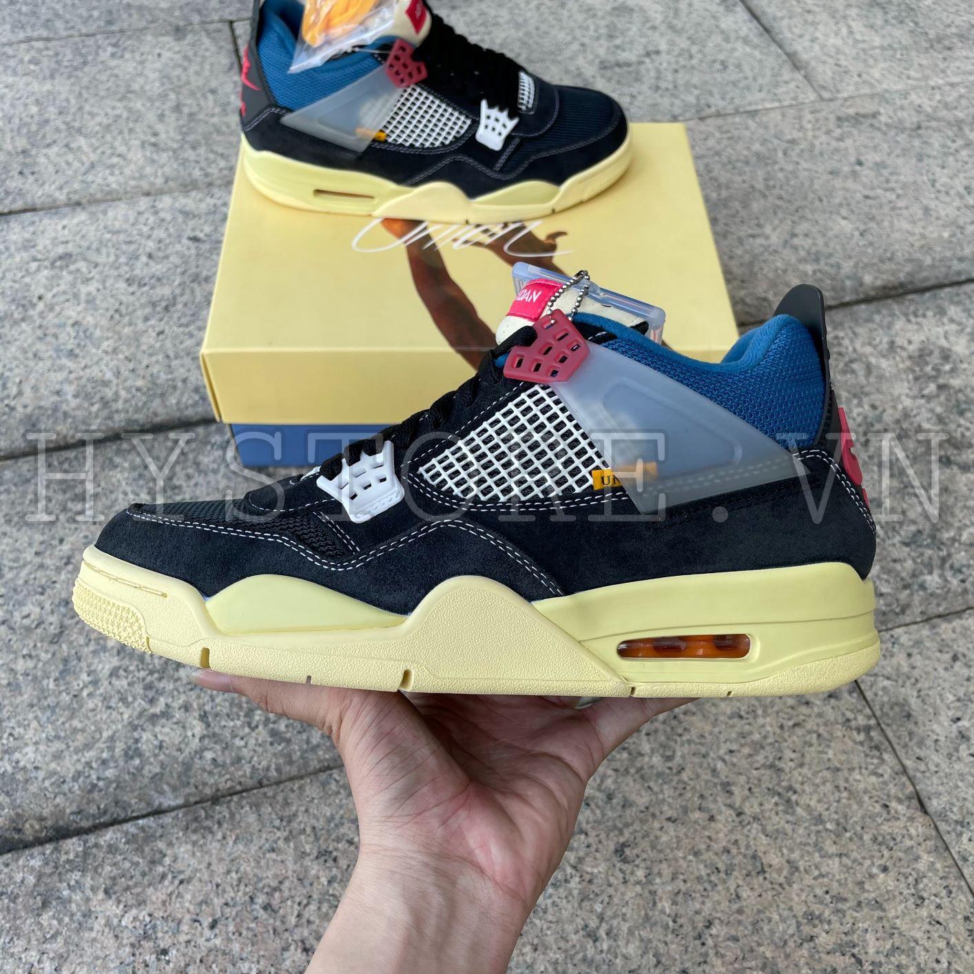 Giày Nike Jordan4 Union LA Black